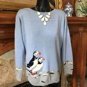 Pretty Puffins Sweater